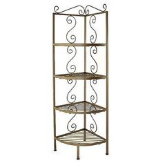 "Grace Corner Baker's Rack Finish: Satin Black, Brass Tips: Without Brass Tips, Size: 19"" W x 19"" D"