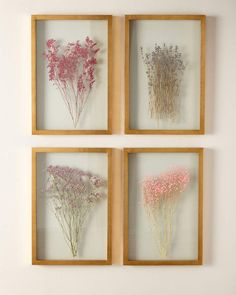 Shop Framed Florals, Set of 4 at Horchow, where you'll find new lower shipping on hundreds of home furnishings and gifts. Decoration Hall, Decoration Christmas, Decoration Bedroom, Diy Wall Decor, Diy Home Decor, Decorations, Pressed Flowers Frame, Pressed Flower Art, Flower Frame