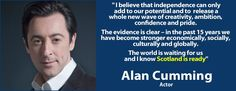 Alan Cumming, not really Outlander related but a Scottish quote I wanted to save. Scottish Quotes, Things To Think About, Things I Want, Scottish Independence, Tv Times, My Heritage, Ancestry, Outlander, Me Quotes