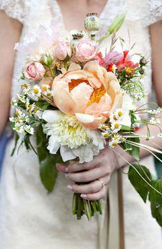 YES. Peach peony flowers: #bouquet #peach #peony