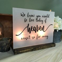 wedding signs Excited to share this item from my shop: Wedding Memorial Sign - We know you would be here today if Heaven wasnt so far away - Memory Wedding Sign - Acrylic Wedding Sign Memorial Lilac Wedding, Wedding Tips, Diy Wedding, Wedding Colors, Wedding Planning, Dream Wedding, Wedding Punch, Wedding Cakes, Wedding Details