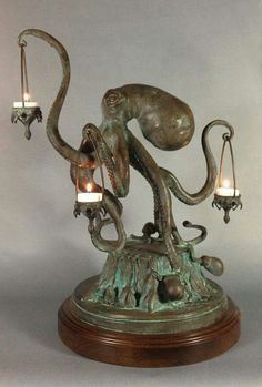 """apolonisaphrodisia:  """"Walktopus"""" Octopus Candle Holder by Scott Musgrove   *whine* I want it….!"""