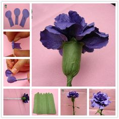 Free template and tutorial to make paper carnation paper flowers tutorial flower making tutorial paperflowers freetemplate paper crafts and paper flowers – Artofit Large Paper Flowers, Tissue Paper Flowers, Paper Flower Backdrop, Giant Paper Flowers, Fake Flowers, Diy Flowers, Fabric Flowers, Crepe Paper Roses, Fleurs Diy