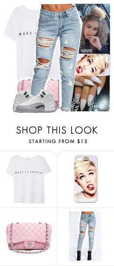 """make it happen..💓"" by lamamig ❤ liked on Polyvore featuring MANGO, Cyrus, Chanel and Boohoo"