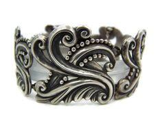 Margot de Taxco 5127  Mexican Silver Swans Bracelet