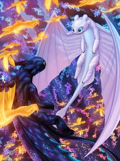 Entry for 'The How to Train Your Dragon: The Hidden World - Discover Your Duo Contest' To me, one of the best duo in the third installment of . - Best Duo - At First Sight Httyd Dragons, Dreamworks Dragons, Cute Dragons, Httyd 3, Night Fury Dragon, Manga Dragon, Dragon 2, Dragon Artwork, Toothless