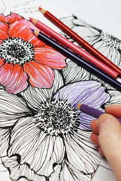 ADULT COLORING BOOK IDEA Thanks To DIY Blogger And Crafting Wiz Alisa Burke Theres