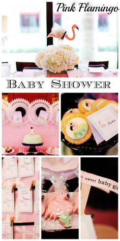 Beautiful pink flamingo baby shower ideas! See more party ideas at CatchMyParty.com. #babyshower #flamingo