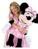 Disney Store Jumbo Minnie Mouse Plush Pink 32 inch