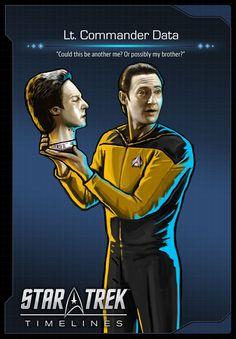 'Lt. Commander Data' (Brent Spiner) from 'Star Trek: The Next Generation'