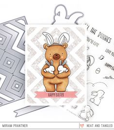 Time for Day 2 of the Neat & Tangled March release! We're showing off another new set from Elena today called All the Bunnies. Epiphany Crafts, The Ton Stamps, Neat And Tangled, Star Stencil, Dog Died, Gift Card Boxes, Paper Smooches, Studio Calico, Little Boxes