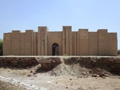 The Temple of Nin Makh (the Great Lady) at Babylon, Iraq, was reconstructed by the Saddam Hussein regime.