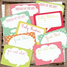 Free printable Smash journal comment tags