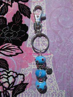 Breast Cancer Awareness pink ribbon awareness keychain /  jewelry / by JoeMamaCreations, $12.00