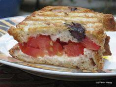Tomato, Feta & Oregano Panini ~ Would Sprinkle with Greek Seasoning and Serve Tza-Tziki Dipping Sauce
