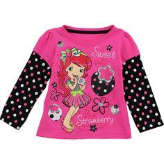 Strawberry Shortcake Toddler Girls Pink T-Shirt 8K7320 2T 3T 4T #HasbroStrawberryShortcake #Everyday