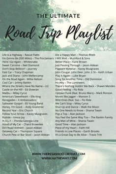 The Ultimate Road Trip playlist - The playlist to make all of your road trips as memorable as possible. Sponsored in part by Hatheway Ford in Bathurst, NB Canada music The Ultimate Road Trip Playlist Road Trip Playlist, Song Playlist, Summer Playlist, Work Out Playlist, Road Trip Soundtrack, Disney Playlist, Summer Songs, Music Mood, Mood Songs