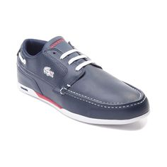 Combining handsome boat shoe-inspired styling with athletic appeal, the new Dreyfus Casual Shoe from Lacoste covers all the bases! Lace up the Dreyfus Casual Shoe, sporting smooth leather uppers with perforated paneling, classy moc-toe stitching, and signature logo details.