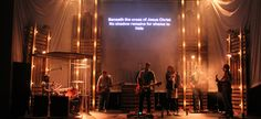 Scrim Tower Lights great idea for a youth service cool for acoustic worship or folk or b contemporary anything really