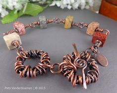 Skye Eye Jasper Gemstone and Solid Copper Bracelet | Handcrafted Jewelry by Patti Vanderbloemen
