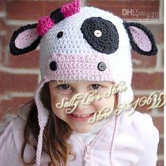 crochet animal hats free patterns | ... Hat Crochet Pattern Kids Animal Beanie Cap Handmade Knit Baby Hat