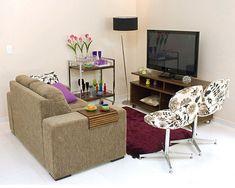 Sala pequena e bem decorada | Revista Casa Linda