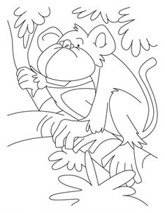 Howler Monkey Coloring Pages