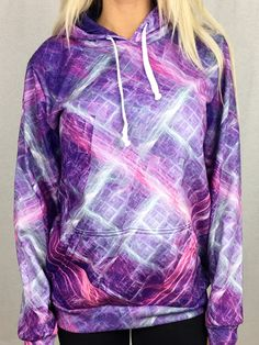 Digital Curves Unisex Pullover Hoodie - Electro Threads™
