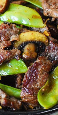 Pea Recipes, Cooking Recipes, Healthy Recipes, Healthy Food, Easy Chinese Recipes, Asian Recipes, Asian Foods, Yummy Asian Food, Asian Dinner Recipes