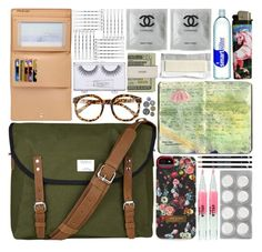 """""""What's in my Purse?"""" by batmancrazy ❤ liked on Polyvore featuring Ted Baker, FE NY, Sandqvist, Moleskine, Louis Vuitton, Stila, Sonia Kashuk, purse, wallet and contents"""