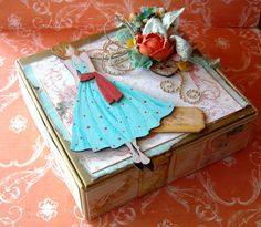 Altered box by Prima Educator, Julie Nutting using Zephyr collection