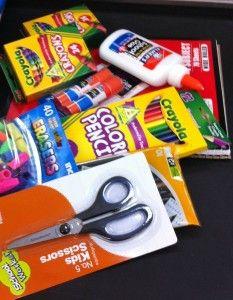 Rebecca sent her Aunt school supplies from Elmer's and School Supplies, Aunt, Bag, Ideas, Purse, Thoughts, School Essentials, Pocket