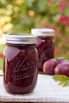 This two-ingredient plum jam recipe is really a cross between plum jam and plum preserves. It's awesome paired with breakfast pancakes or crepes. No Pectin no peel Plum Jam Recipes, Jelly Recipes, Fruit Recipes, Low Sugar Plum Jam Recipe, Plum Preserves, Jam And Jelly, Plum Jelly, Home Canning, Canning Recipes