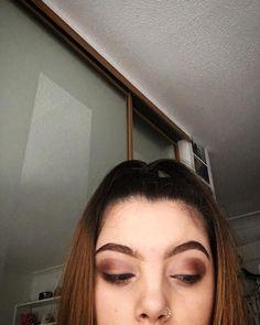 Warm toned eyeshadow combination