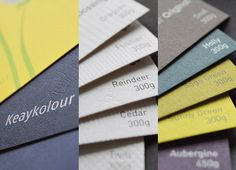 Keaykolour is a collection of the finest naturally textured coloured boards and papers - all FSC certified and made using high-end recycled pulp.