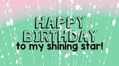 Send a bright #birthday wish to the star of the day with this shining #ecard. #HappyBirthday #greetings #wishes. www.123greetings.com