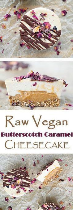 Raw Vegan Butterscotch Caramel Cheesecakes {Paleo}-use almond meal not oats; maple syrup not agave