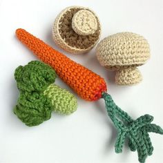 6 Crochet Fruit & Vegetables / Crochet Vegetables by LittleConkers, £21.00