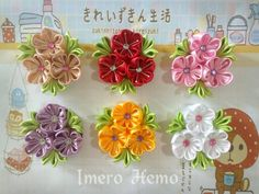 Cute Fabric Flower Brooches at Imero Hemo (by ainahafizah)