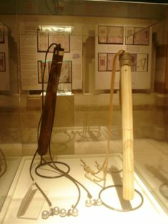 Reconstruction of the Roman whips at Permanent Exhibition of the Shroud in the Notre Dame Center, Jerusalem.