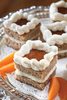 Satisfy your sweet tooth with these decadent Apricot-Walnut Cakes.
