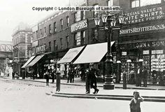 Junction of Coldharbour Lane and Loughborough Road, Brixton, London, 1905