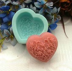 Soap Mold Candle Molds Love Heart Flower  Christmas by lovelymold, $5.99
