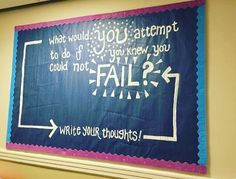 what would you do if you knew you could not fail- bulletin board idea