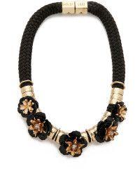 Holst + Lee | Volcanic Flower Necklace - Black |  Lyst