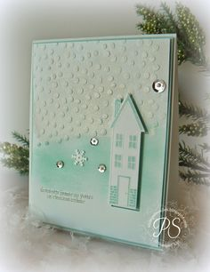 Holiday Home from Stampin' Up! Love it!
