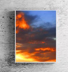 #11x14 #Print, #Sunset #Photography, #Printable, #Minimalist #Print, #Sky #Overlay #Photography, #Cloud, #Dramatic #Sky, #Sunset #Sunrise #Clouds #SunsetPrint, #FireSky, #WallArt #OfficeDecor #OfficeArt #Interior #Decor