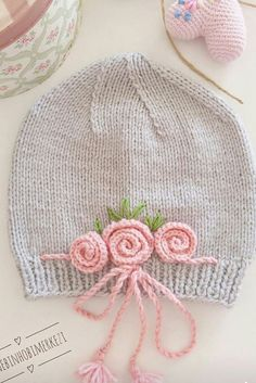 Baby Hat Knitting Pattern, Baby Hats Knitting, Knitting Patterns Free, Knitted Hats, Crochet Patterns, Crochet Baby Clothes, Crochet Baby Hats, Crochet Chart, Crochet Projects