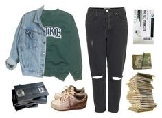 """listen man"" by unpleasantunicorn on Polyvore featuring NIKE and Topshop"