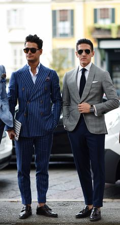 Breasted men double suit